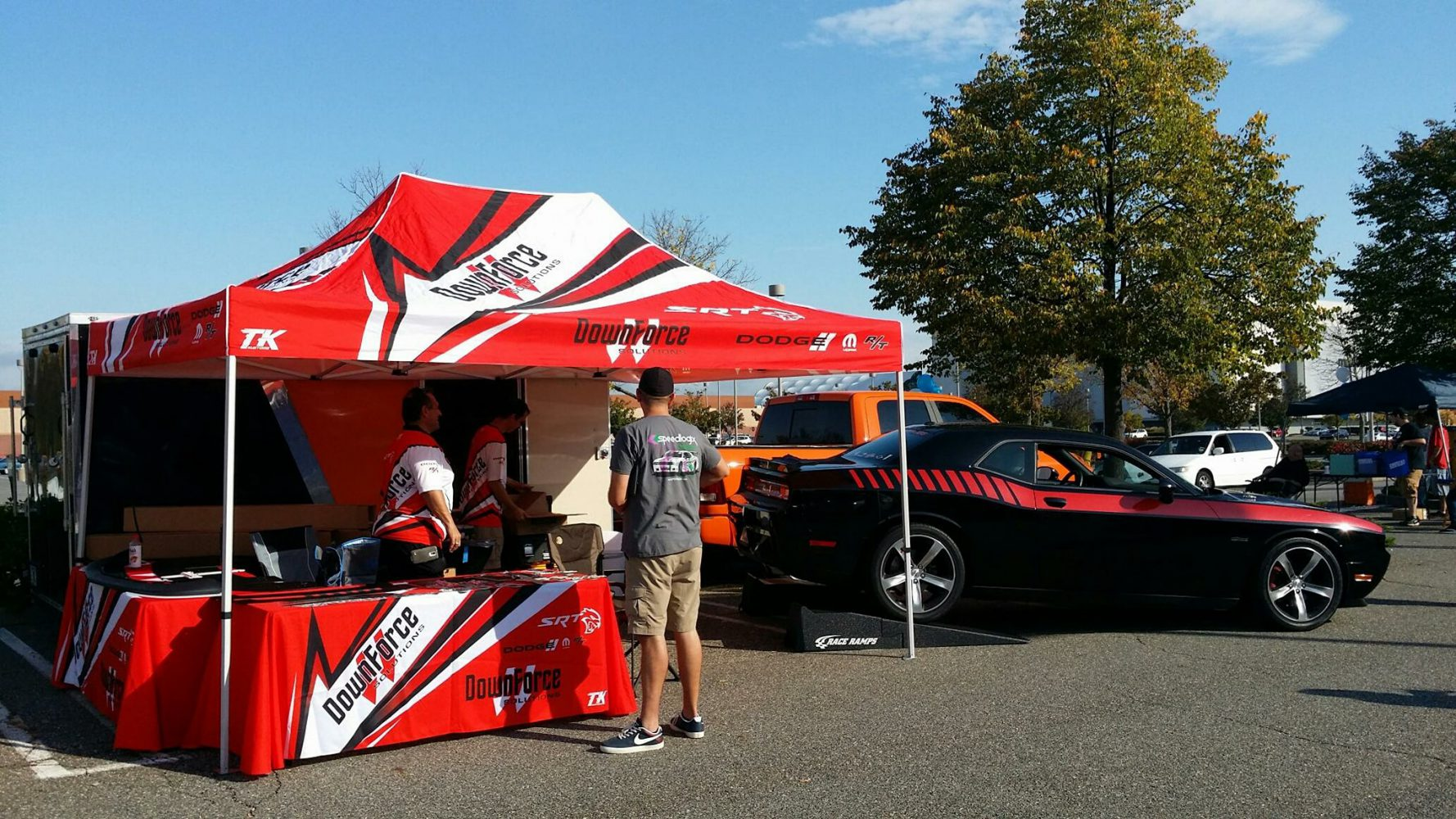 downforce solutions event day tent gear