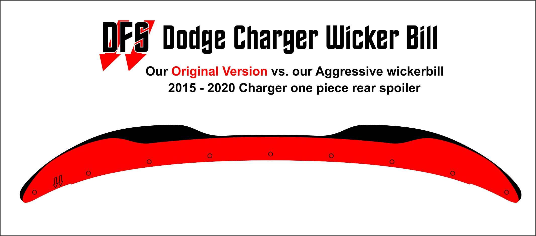 Now Available 2015-2020 Charger Aggressive Wickerbill